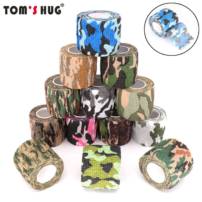 4.5m Camouflage Elastoplast Sports Protector Hunting Disguise Elastic Wrap Tape Self Adhesive Ankle Knee Finger Arm Bandage