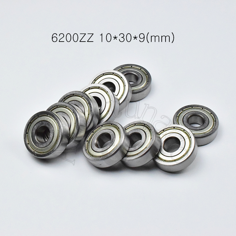 6200ZZ 10*30*9(mm) 1piece bearings ABEC-5 metal sealing bearings Free shipping 6200 6200Z  chrome steel deep groove bearing6200ZZ 10*30*9(mm) 1piece bearings ABEC-5 metal sealing bearings Free shipping 6200 6200Z  chrome steel deep groove bearing