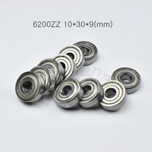 6200ZZ 10*30*9(mm) 1piece bearings ABEC-5 metal sealing bearings Free shipping 6200 6200Z  chrome steel deep groove bearing