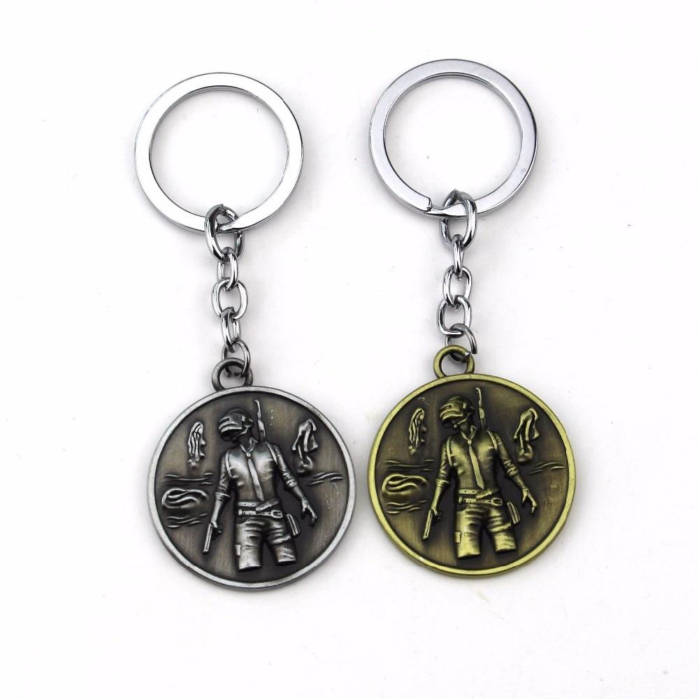 HSIC Game Playerunknowns Battlegrounds Pans Pendant Keychain PUBG Key Chain Llavero Figure Men Jewelry Chaveiro Gift Wholesale