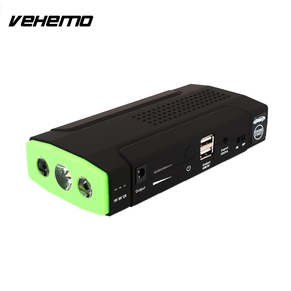 Vehemo Dual USB Jump Starter Kit LED Indicator Car Jump Starter Kit DIY Automobile Power  Without Battery
