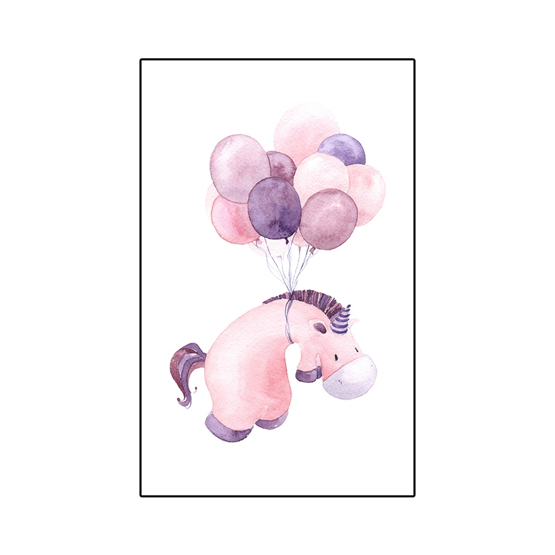 5D DIY Diamond Painting Kit Diamond Embroidery Pink Cute Horse Purple Balloons Mosaics Cross Stitch Kit Wall Decor Home Craft in Diamond Painting Cross Stitch from Home Garden