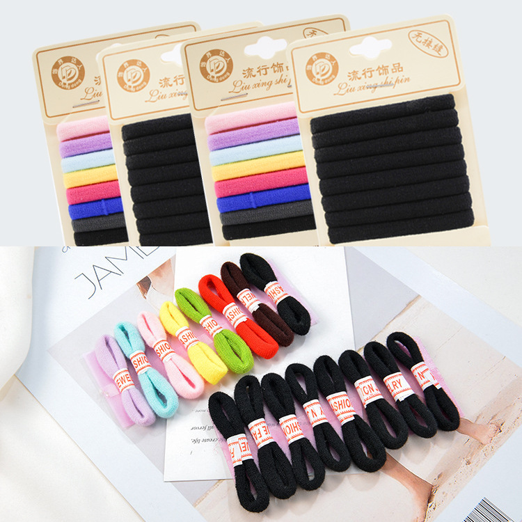 Small Ring Hair Bands Girls Colorful Elastic Hair Rope Tie Gums Kids Rubber Band Ponytail Holder Hair Accessories headwea