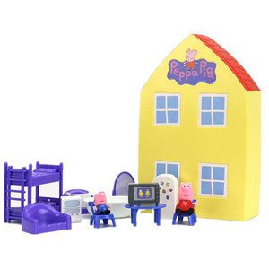 Image 2 - Peppa Pig George Familie Vrienden Speelgoed Pop Echte Scene Model Pretpark Huis Pvc Action Figures Speelgoed