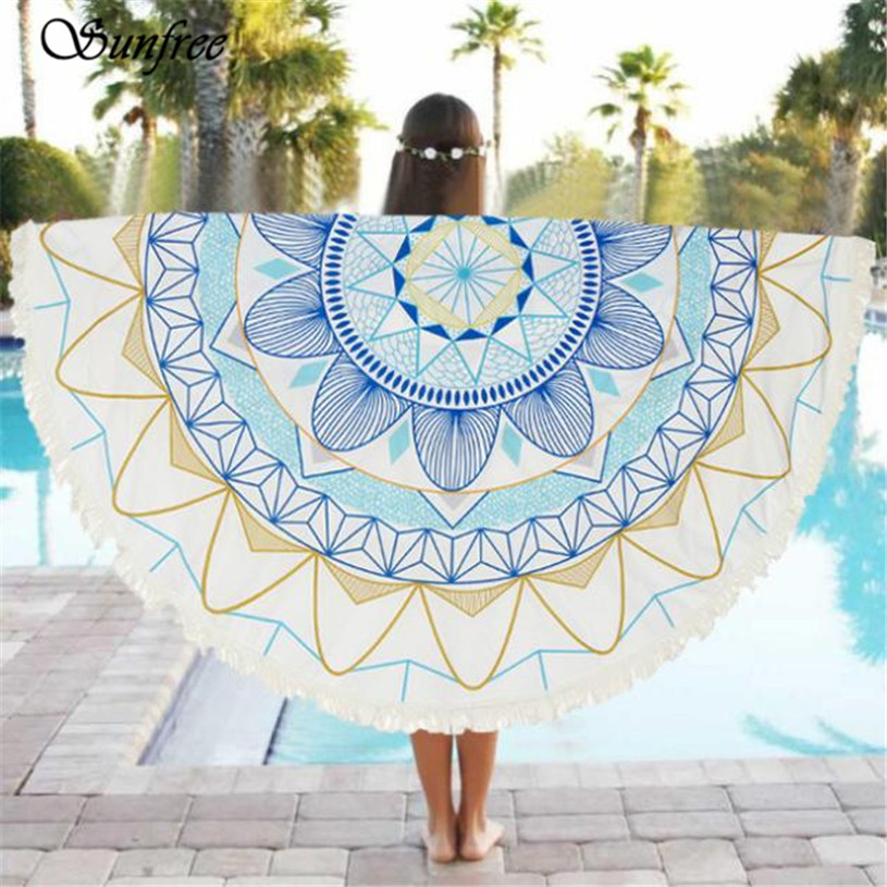 Sunfree 2017 HOT SALE Round Beach Pool Home Shower Towel Blanket Table Cloth Brand New High Quality Jan 12