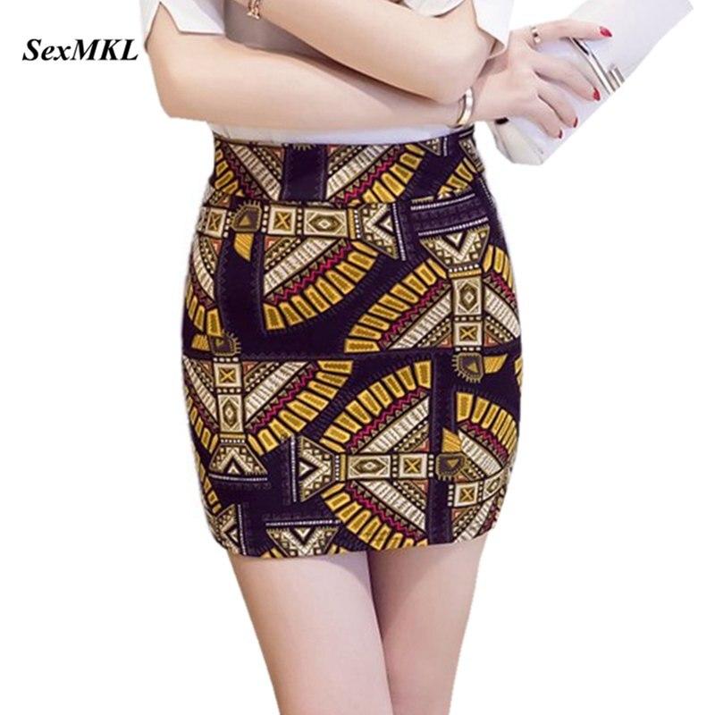 SEXMKL Plus Size Printed Short Mini Skirt Women 2019 Fashion Korean High Waist Skirts Ladies Streetwear Pencil Skirt Jupe Femme