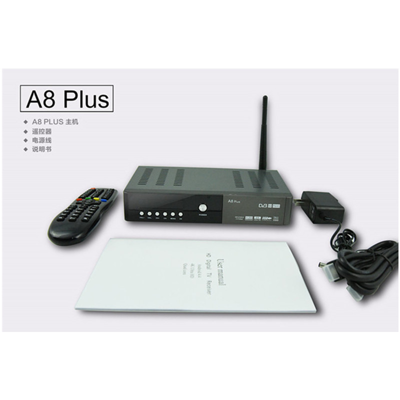 Combo Android TV box A8 PLUS Hisilicon 3796 4K H.265 twin tuner DVB-S2 T2 C HD Support Android App google store wifi Power vu azbox premium hd plus twin tuner receiver 2 dvb s2 tuner