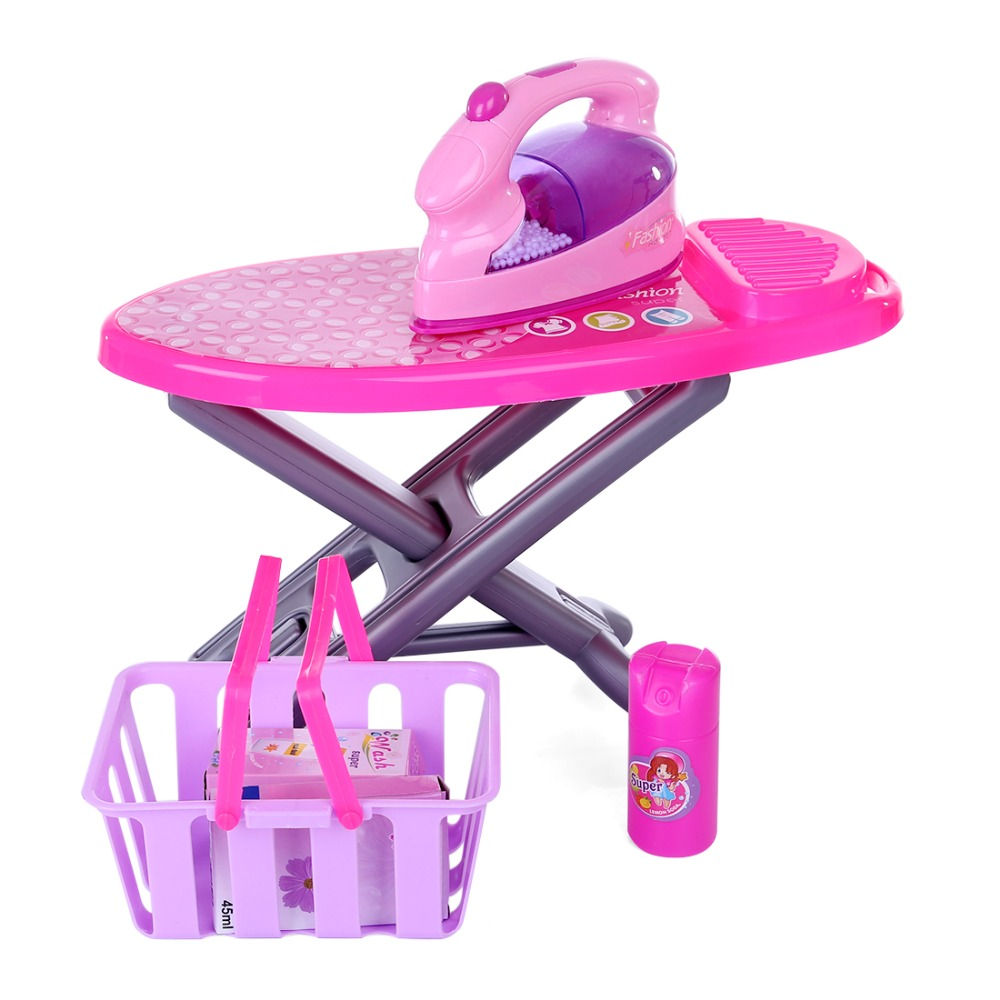 New Pretend Play Electric Iron Kit Plastic Pink Safrty Plastic Light-up Simulation Kids Children Baby Girl Home Appliances ToysNew Pretend Play Electric Iron Kit Plastic Pink Safrty Plastic Light-up Simulation Kids Children Baby Girl Home Appliances Toys