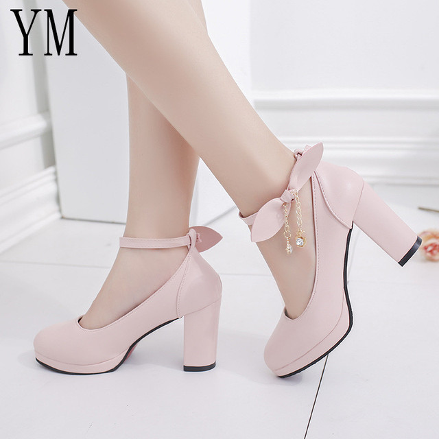 Women's Bowknot High Heel Pump Shoe