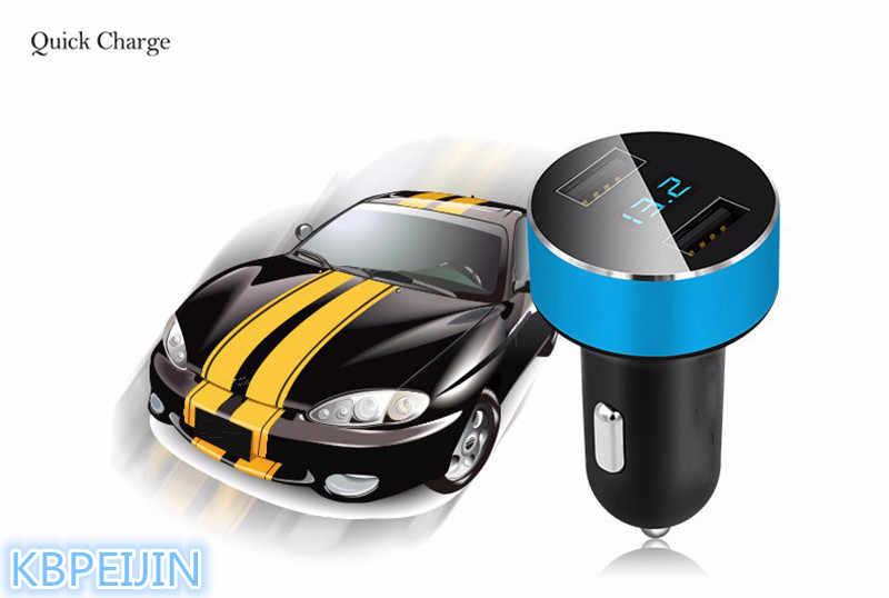 Cepat Charger Mobil BARU LED GANDA Port USB Adapter Untuk Nissan qashqai tiida almera primera x-trail juke catatan aksesoris cerah