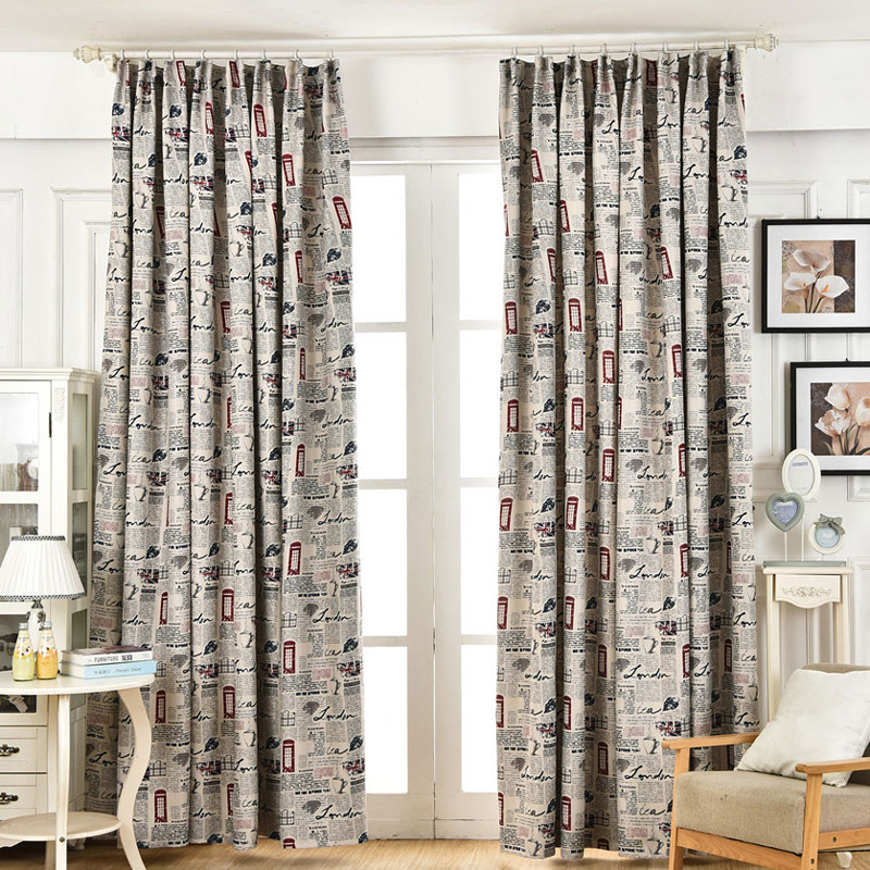 buy retro print curtains and get free shipping on aliexpresscom - Retro Curtains