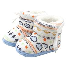 Baby Boots 2017 Fashion Toddler Infant Newborn Baby Print Boots Soft Sole Boots Prewalker Warm Shoes D50