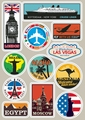 Famous Scenic Spots Vintage Sticker on Laptop Tablet Trolley Luggage Suitcase Sticker Car Styling Wall Skateboard Car Stickers