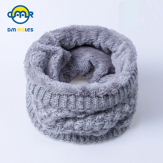 DMROLES 2018 Winter Scarf For Women Children Scarf For Boys Thickened Wool Collar Scarves Baby Girls Scarf Cotton Drop Shipping