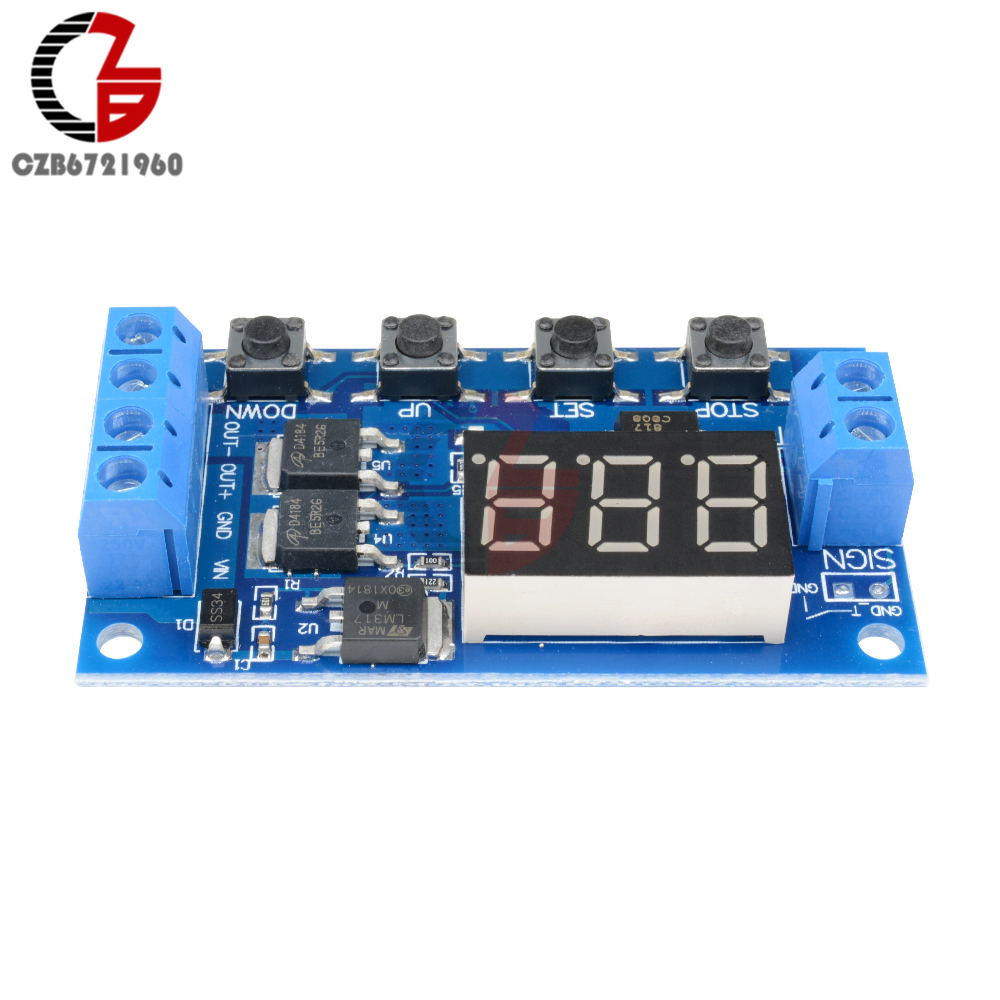 Diymore Dc 12 V Delay Relay Timer Control Led Display Digital Timing Circuit Trigger Zyklus Switch