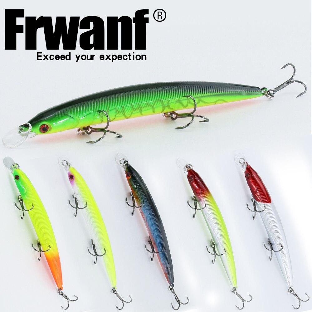 Frwanf 6 db / tétel Minnow 14cm 14g Swimbait kemény csalit - Halászat