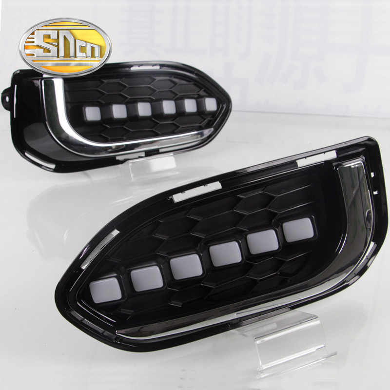 For Honda Fit Jazz 2017 2018 Asian Version Daytime Running Light LED DRL fog lamp Driving lights Yellow Turn Signal Lamp