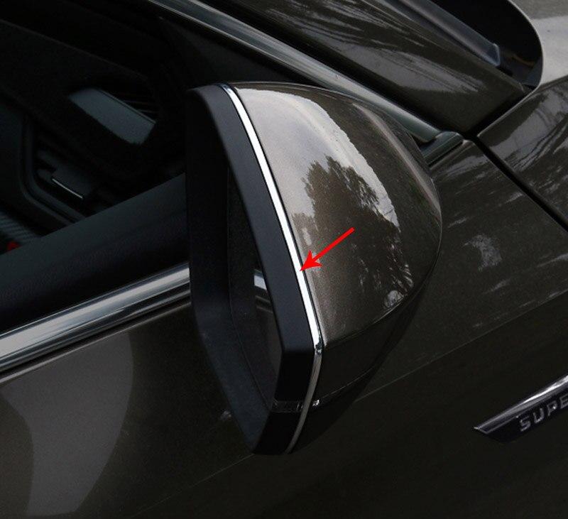 for SKODA superb Octavia KODIAQ KAROQ Rearview mirror Decorative Bright strip