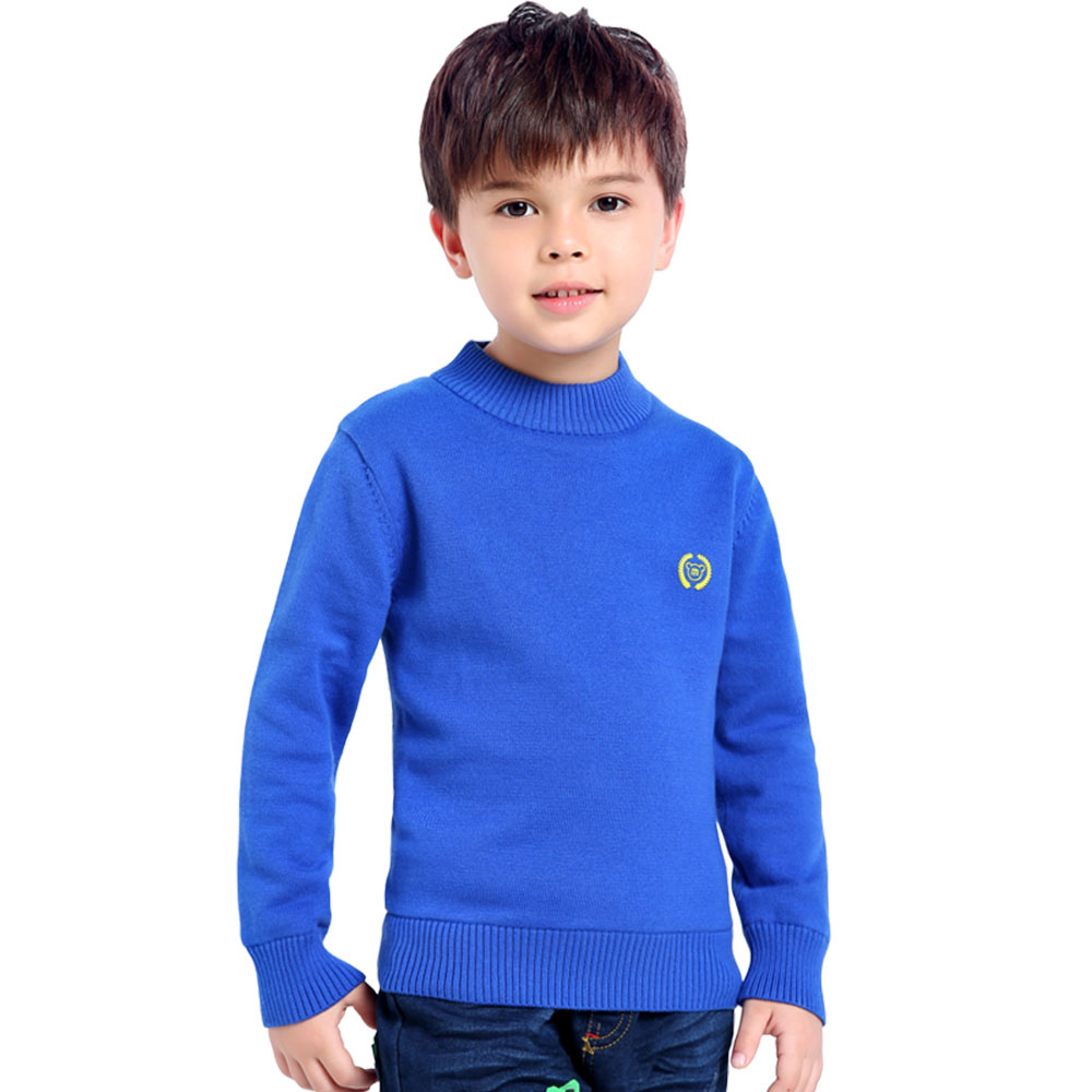 2018 Autumn Winter Boys Sweaters Fashion Blue Kids Knit Pullovers Jumper Solid Long Sleeve Toddler Knitwear Top Children Clothes 2018 autumn winter boys sweaters fashion blue kids knit pullovers jumper solid long sleeve toddler knitwear top children clothes page 2