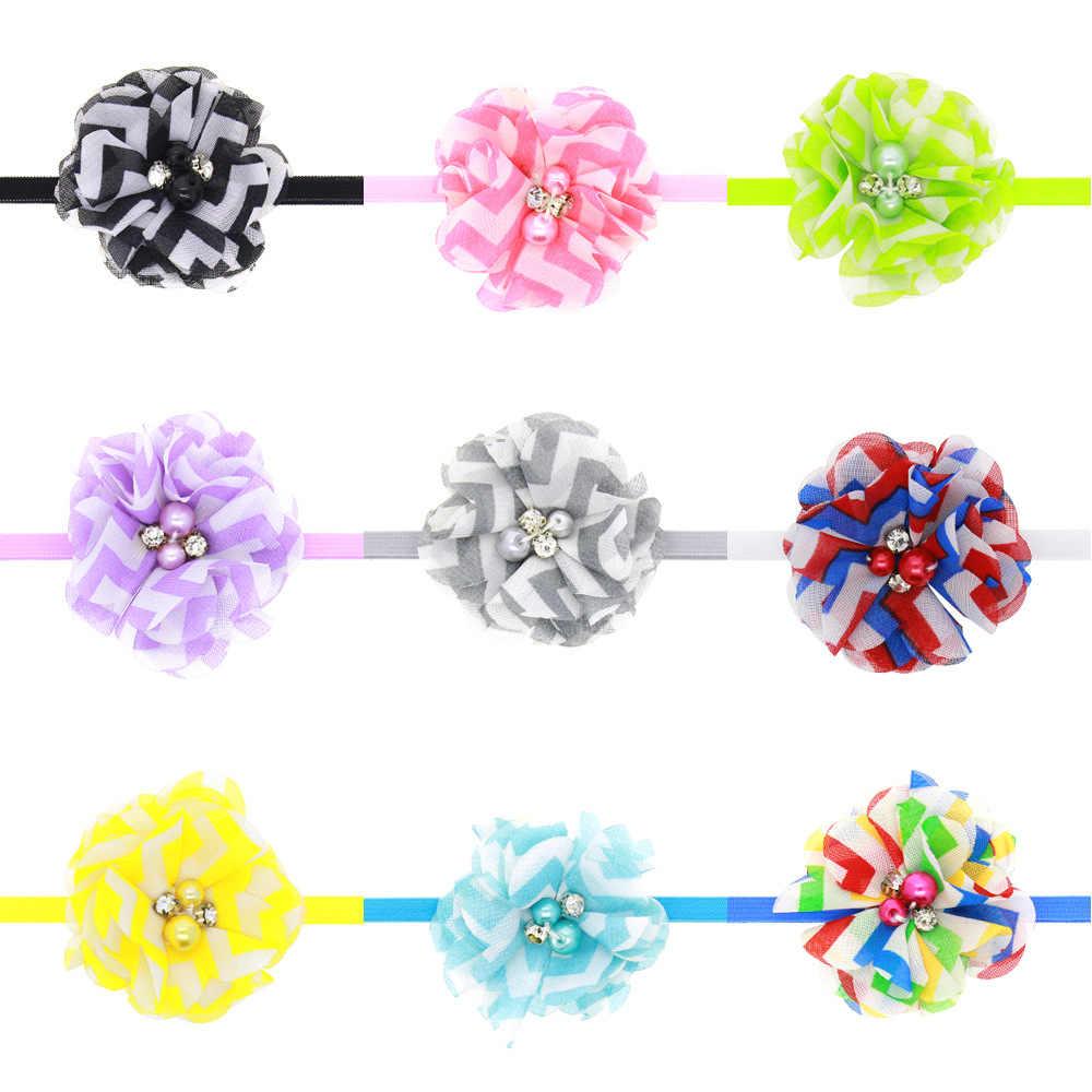 เด็กทารกแถบคาดศีรษะทารกอุปกรณ์เสริมผมวงดอกไม้ bows ทารกแรกเกิด Headwear tiara headwrap ของขวัญเด็กวัยหัดเดินริบบิ้นผ้าพันคอ