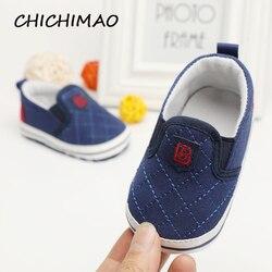 Модная обувь для новорожденных унисекс с мягкой подошвой; однотонная хлопковая обувь для малышей; Мокасины младенческие; Уличная обувь для ...