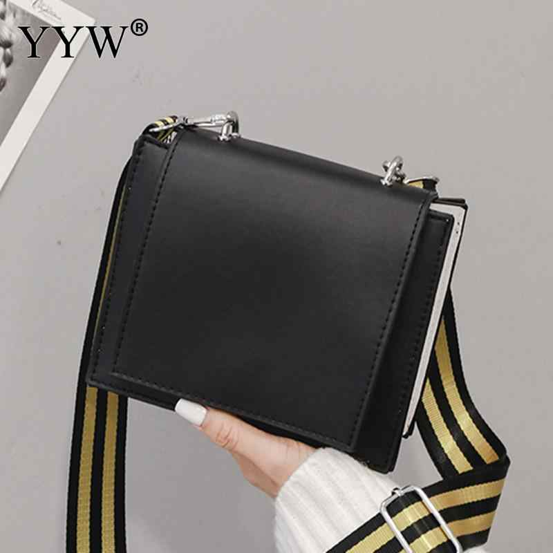 0ae11ce3bbceb Simple Black 2018 Summer Fashion Women Bag Leather Handbags Pu Shoulder Bag  Small Flap Crossbody Bags