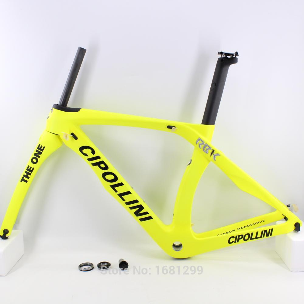 Newest Matt Bright Yellow 700C Road Bike T1100 3K Full Carbon Fibre Bicycle Frame Carbon Fork+seatpost+clamp+headsets Free Ship