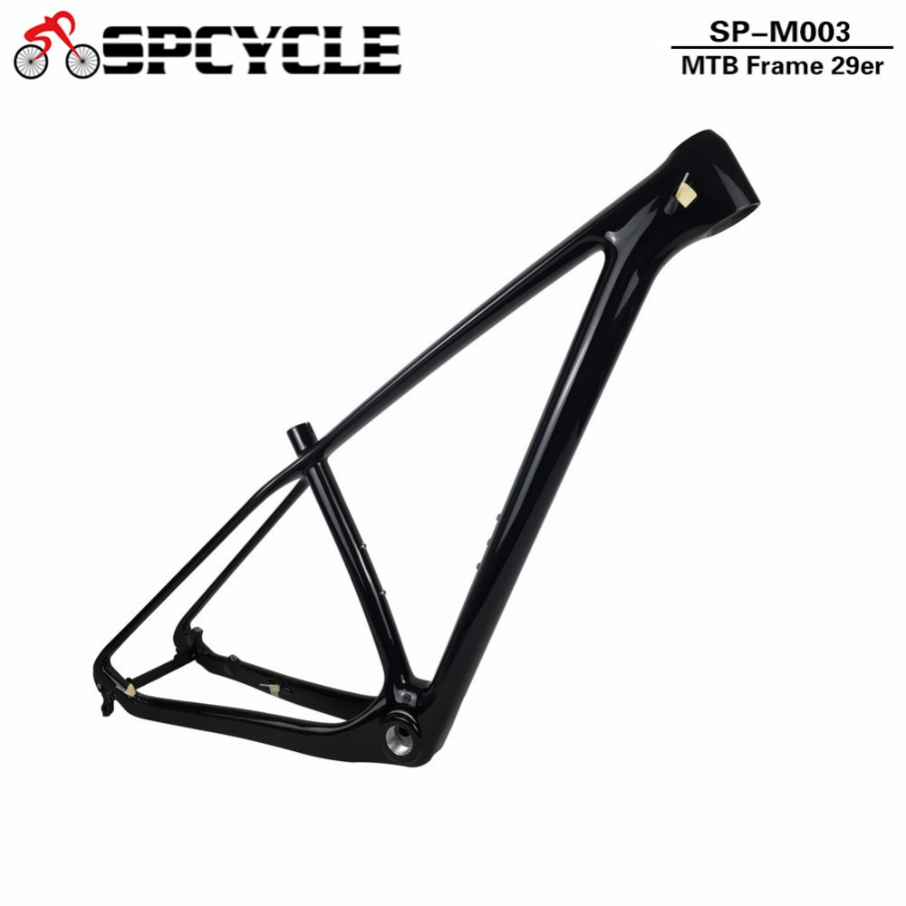 Spcycle T1000 29er Carbon Mountain Bike Frame 29 Carbon MTB Bicycle Frame BSA Matte Compatible 142*12mm Thru axle And 135*9mm QR 2017 flat mount disc carbon road frames carbon frameset bb86 bsa frame thru axle front and rear dual purpose carbon frame