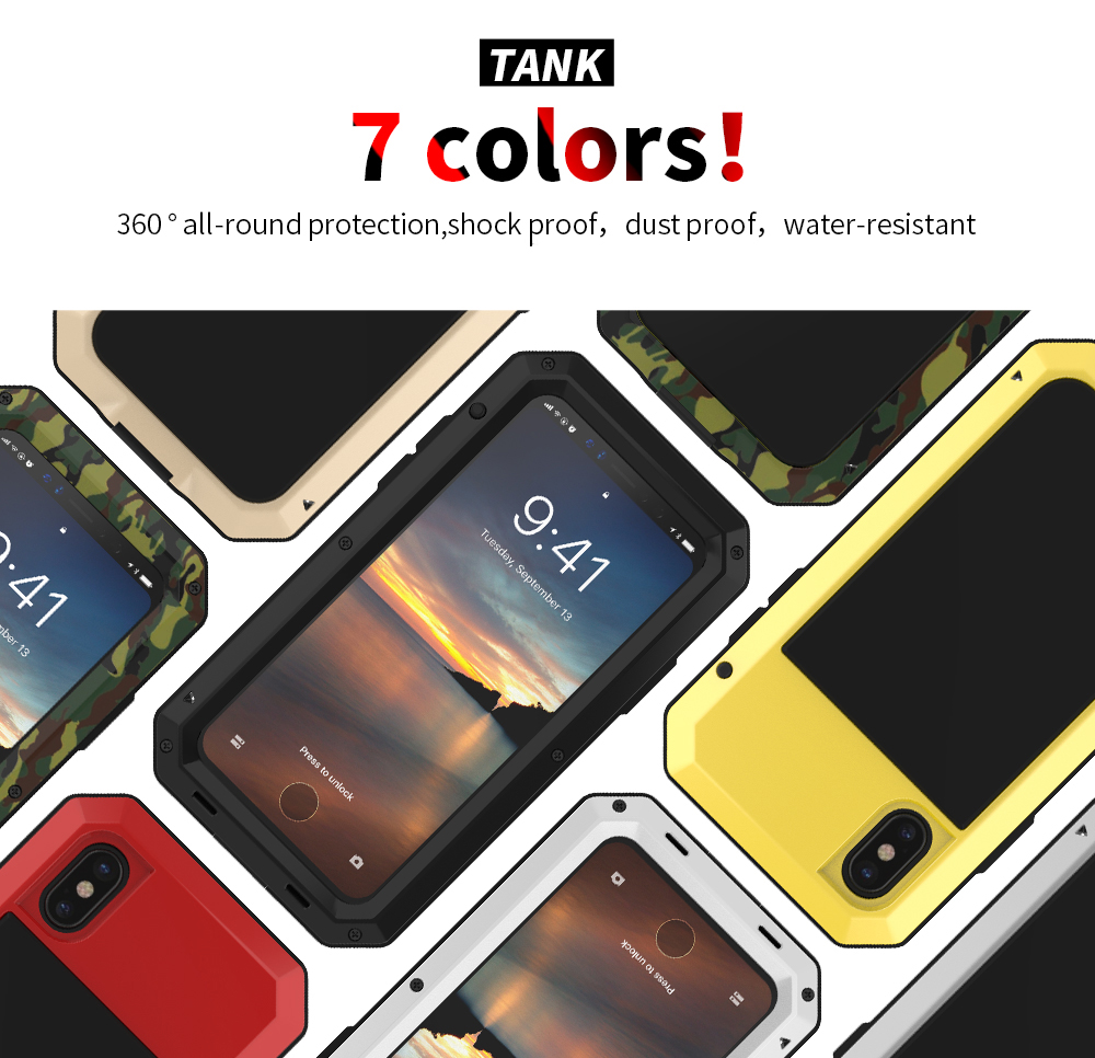 For iPhone X Tactical Waterproof Case (4)