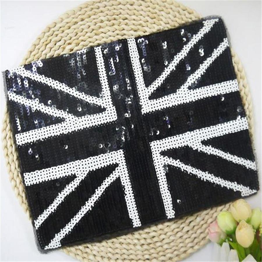 ჱ1 unids Bretaña diseños 27.5 cm Reino Unido bordado Parches ropa ...