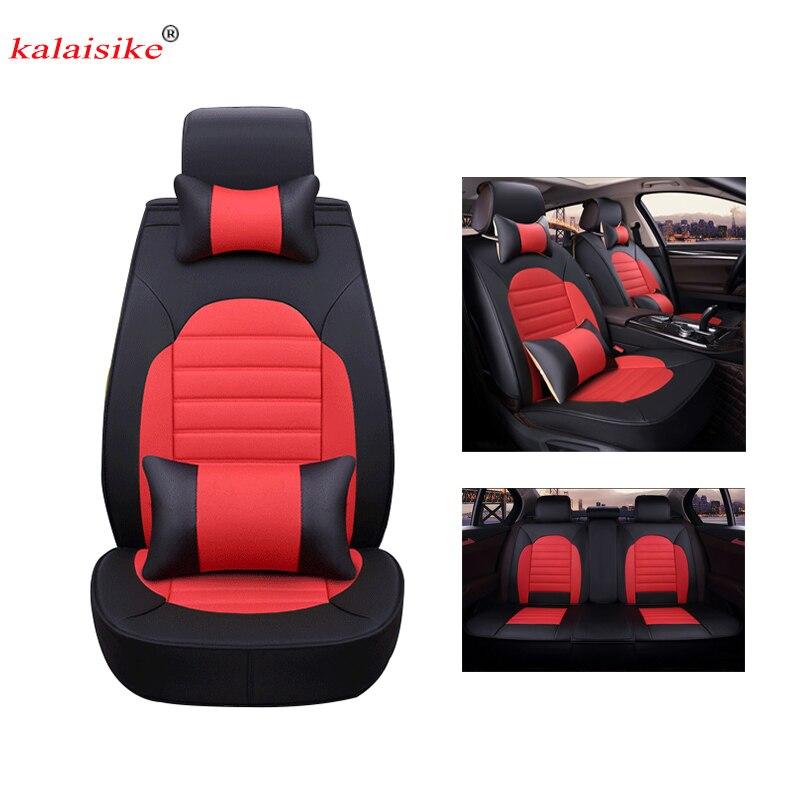 Kalaisike кожа универсальные чехлы сидений автомобиля для Isuzu все модели D MAX Му X 5 сидения авто аксессуары для укладки