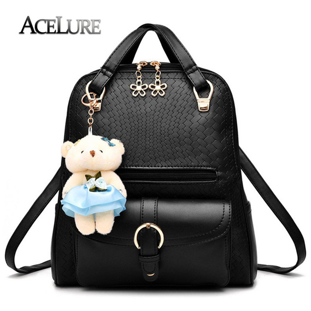 d7fd1c436b ACELURE Brand 2017 New Women Backpacks High Quality PU Leather School Bags  Students Backpack Striped Ladies Rucksacks Travel Bag