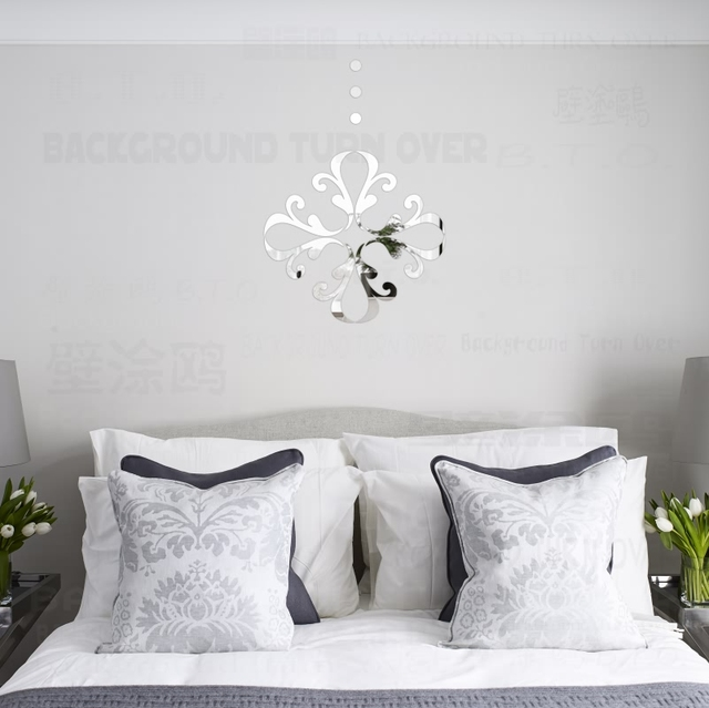 Creative Flower Pattern Decorative 3D Acrylic Mirror Wall Stickers Living  Room Bedroom Door Decoration Home Decor Part 98