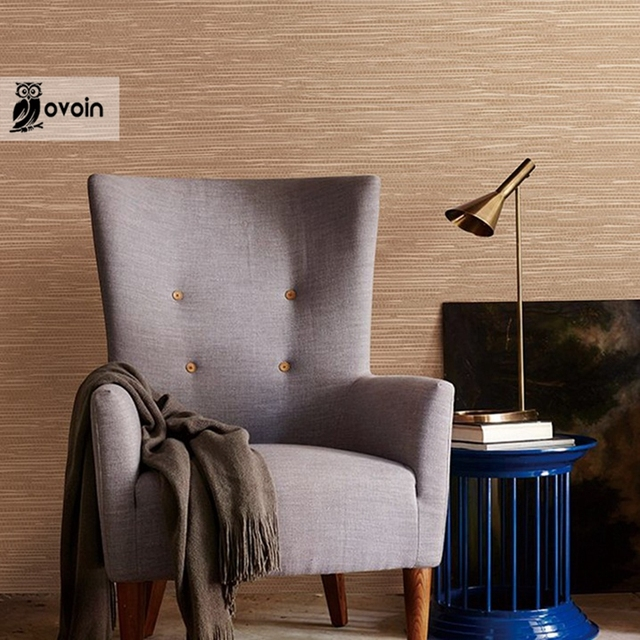 Solid Color Wrinkled Grasscloth Wallpaper Vinyl Braid Straw Linen Wall  Paper For Tv Backdrop Wallcovering 9.5
