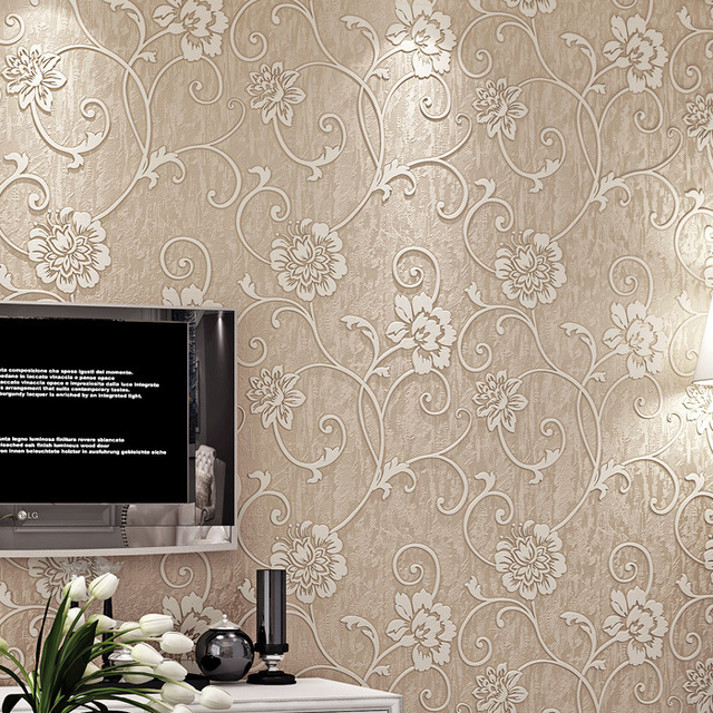 Victorian Mural Wallpaper: Aliexpress.com : Buy Victorian Damask Wallpaper Silver