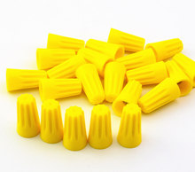 100Pcs P4 Yellow Wire Connector Twist-On Terminals Cap Spring Insert Assortment 22-10 AWG