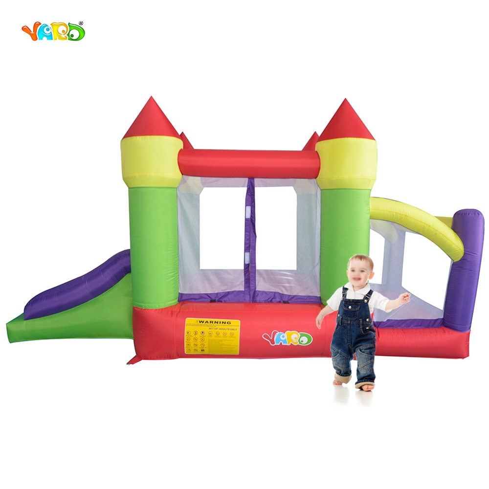 YARD Bounce House with Slide Ball Pit Indoor Outdoor Mini Trampoline for Kids Baby Birthday Party Event Ships from Russia