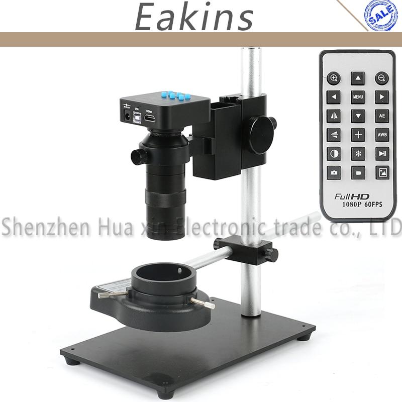 16.0mp Full HD 1080 P 1/2. 33 дюймов HDMI USB2.0 промышленности микроскоп Камера Поддержка TF карты + металлический держатель + 144 светодиодный кольцо света