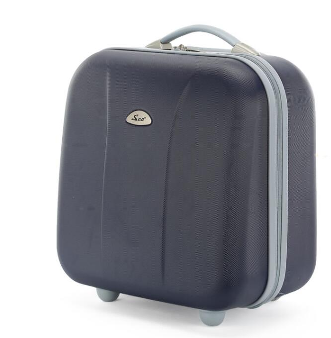 17 Inch Women Cabin Luggage Bag on wheels wheeled Bag Rolling Trolley bags Business Travel Bag For men carry on luggage suitcase