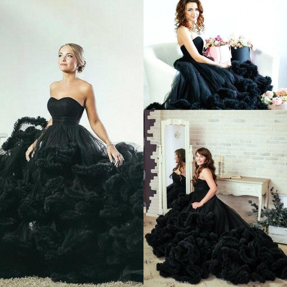 Sexy black wedding dress 2017 ball gown backless lace up cloud sexy black wedding dress 2017 ball gown backless lace up cloud sleeveless wedding bridal dress 2017 robe de mariee wedding gowns in wedding dresses from junglespirit Gallery