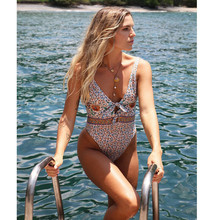 2019 Swimwear Women Bandage One Piece Bikini Monokini Push Up Padded Bra Swimsuit Hot Summer New