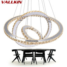 Modern LED Crystal Chandelier Lights Lamp For Living Room Cristal Lustre Chandeliers Lighting Pendant Hanging Ceiling Fixtures(China)