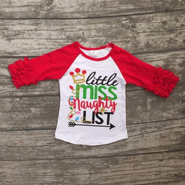 748e215e3737 Christmas Fall winter baby girls clothes girls little miss naughty ...