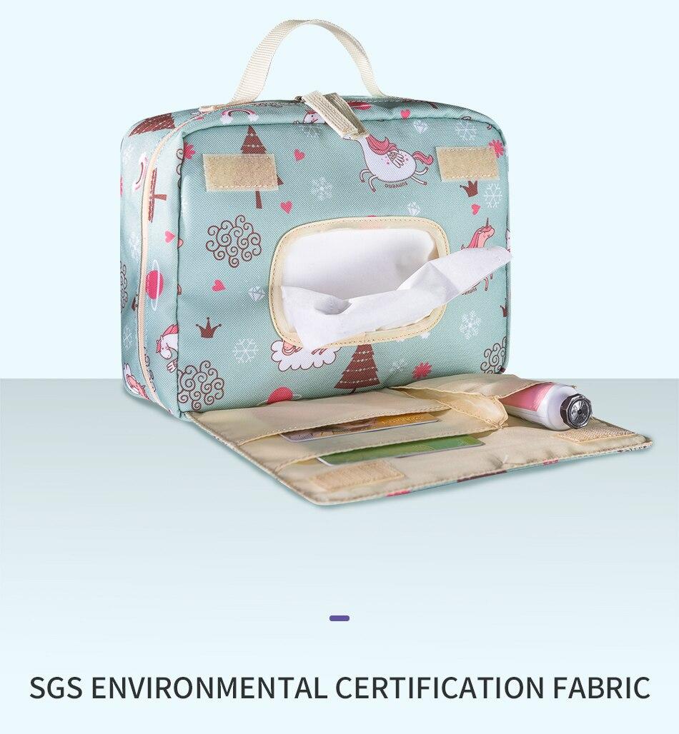 Baby Diaper Bags Sunveno Diaper Nappy Bag Waterproof Reusable Washable Baby organizer ToteSatchel
