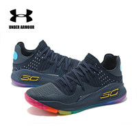 Newest Under Armour UA Men Curry 4 Light Sport Basketball Sneakers Outdoor Low Top Unique Socks Design Cushioning Shoes 40 45