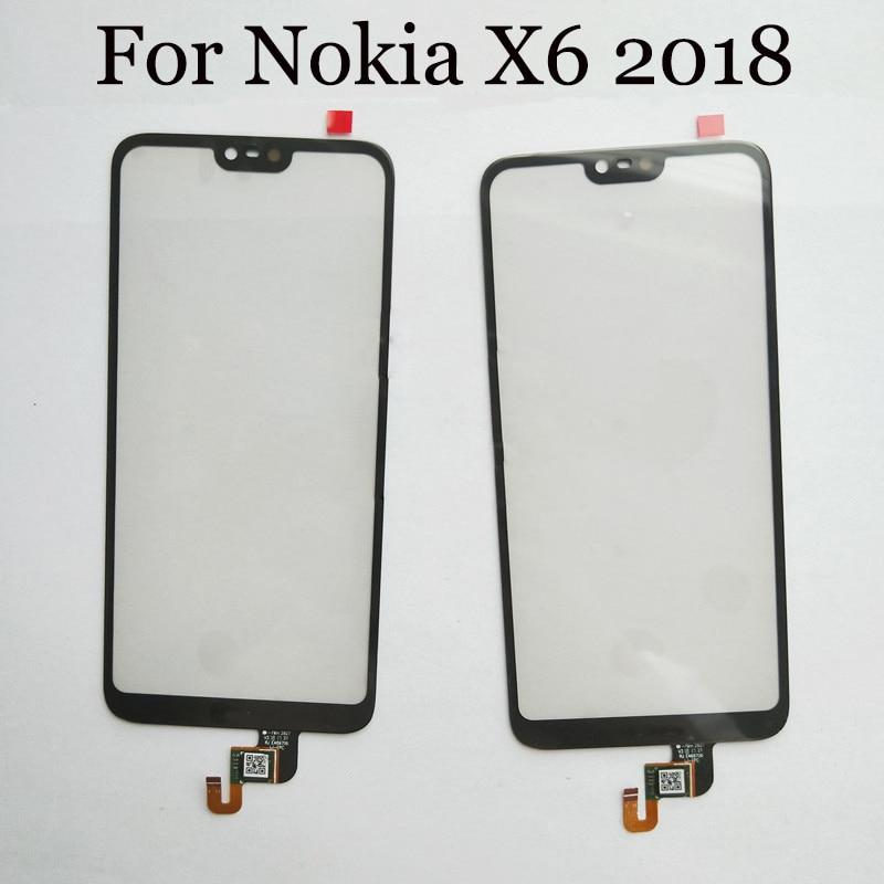 Качество + для Nokia X6 2018 Touch Экран планшета Сенсор для Nokia X 6 2018 NokiaX6 Сенсорный экран Стекло панели со шлейфом