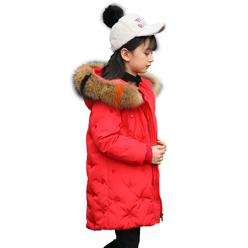 Children Warm Winter Down Parkas Girls Long Hooded Snowsuits Jackets Teenagers Windproof Fashion Fur Collar Outerwear AA51911Children Warm Winter Down Parkas Girls Long Hooded Snowsuits Jackets Teenagers Windproof Fashion Fur Collar Outerwear AA51911