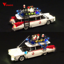 Купить с кэшбэком Led Light For Lego 21108 Ghostbusters Ecto-1 Building Bricks Blocks Creator City Compatible 16032 Toys ( light with Battery box)
