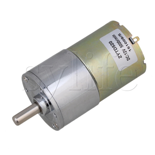 Diameter 37mm 12v Dc 30 Rpm Gear Box Sd Control Electric Motor Low Noise
