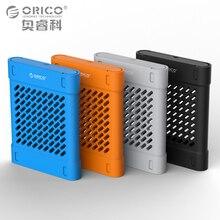 ORICO 2.5 дюймов силиконовый защитный коробка/чехол для хранения Жесткий диск SSD черный/синий/серый/желтый